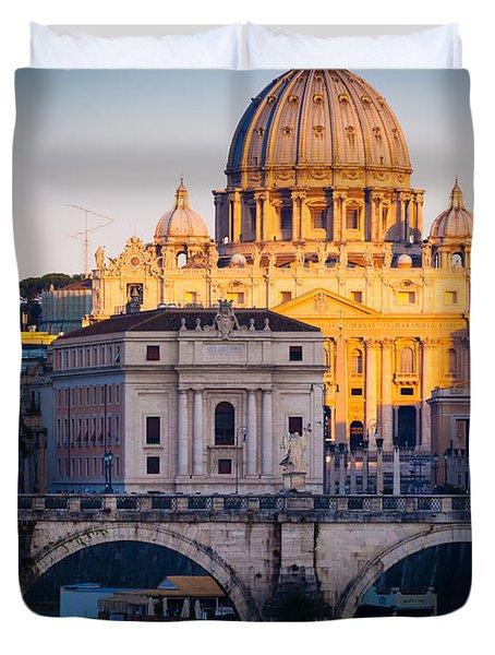 Saint Peter's Dawn Duvet Cover by Inge Johnsson