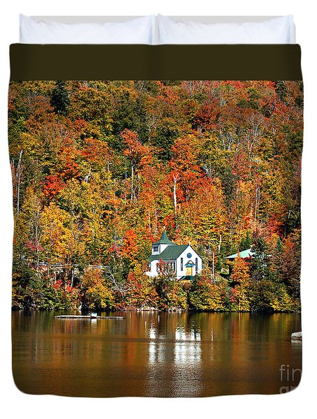 Saint Peters On The Lake Adirondacks New York Duvet Cover