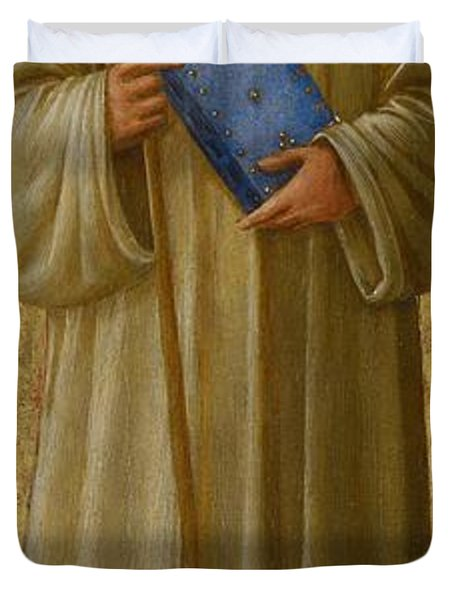 Saint Romuald Duvet Cover by Fra Angelico