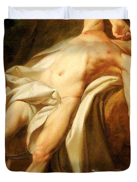 Saint Sebastian Duvet Cover by Nicolas Guy Brenet