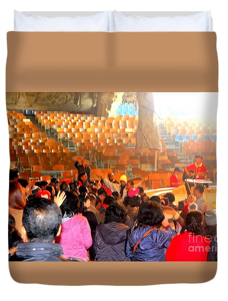 Cave  Church In Egypt Duvet Cover
