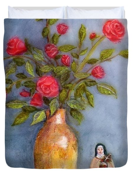 Saint Therese Of The Little Flower Duvet Cover