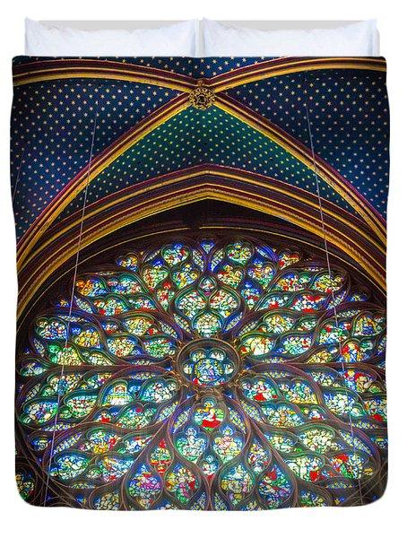 Sainte-chapelle Fenetre Ronde Duvet Cover