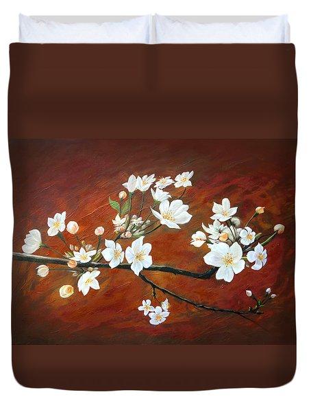 Sakura Duvet Cover by Angel Ortiz