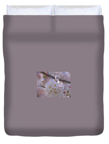 Duvet Cover featuring the photograph Sakura by Rachel Mirror