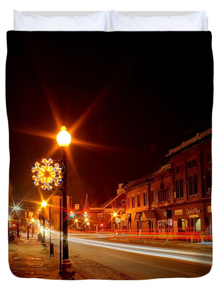 Salem Ohio Christmas Duvet Cover