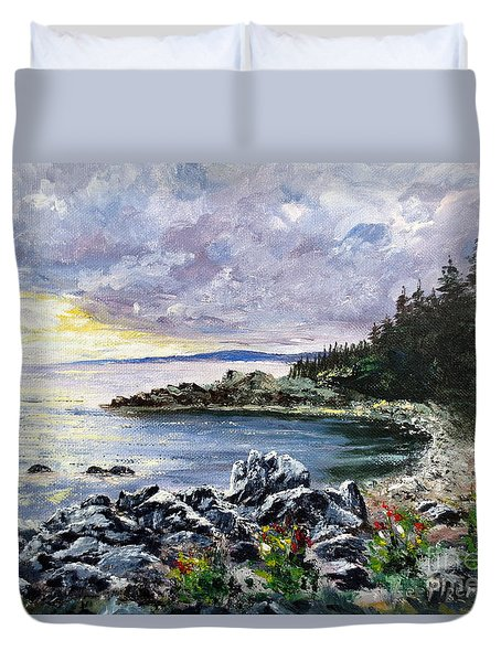 Salisbury Cove Duvet Cover by Lee Piper