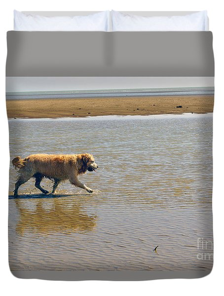 Duvet Cover featuring the photograph Sally Iv by Cassandra Buckley