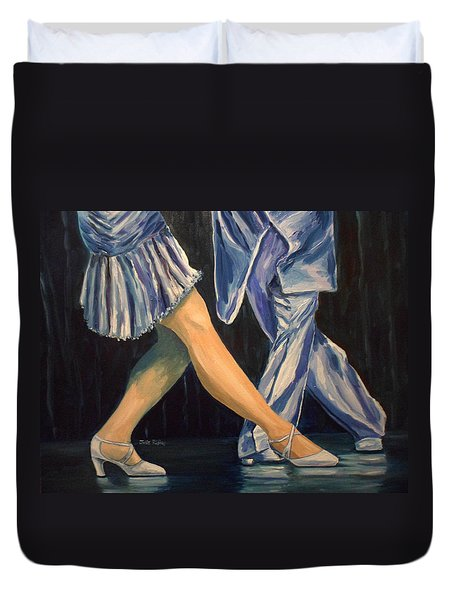 Salsa Stepping Duvet Cover