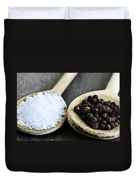 Salt And Pepper Duvet Cover by Elena Elisseeva