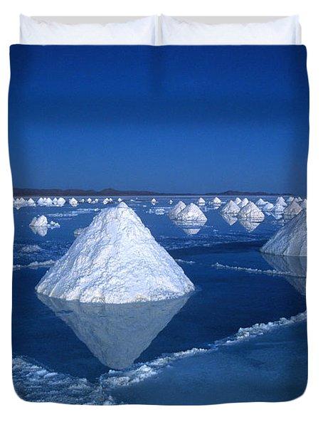 Salt Cones At Nightfall Duvet Cover