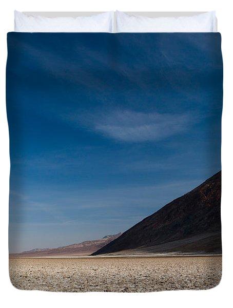 Salt Flat, Western Hemisphere, Badwater Duvet Cover