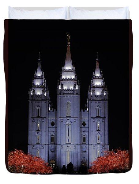 Salt Lake Christmas Duvet Cover