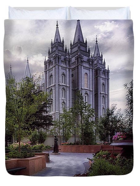 Salt Lake Temple Duvet Cover
