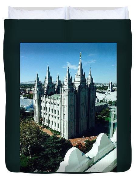 Salt Lake Temple The Church Of Jesus Christ Of Latter-day Saints The Mormons Duvet Cover by Richard W Linford