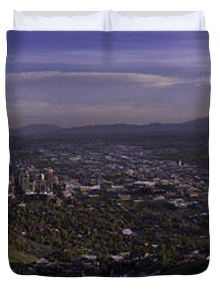 Salt Lake Valley Duvet Cover by Chad Dutson