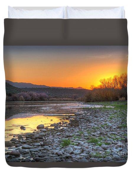 Salt River Bulldog Canyon Duvet Cover by Martin Konopacki