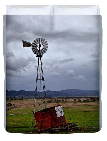 Salt Springs Windmill Duvet Cover
