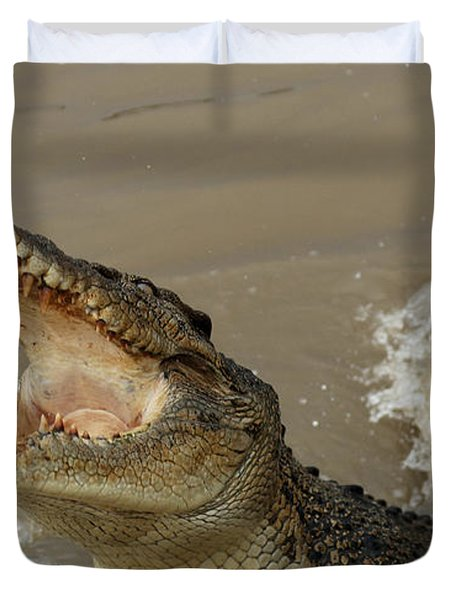 Salt Water Crocodile 2 Duvet Cover by Bob Christopher