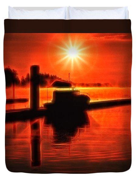 Salty Sunrise Duvet Cover