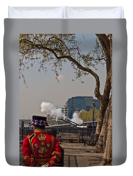 Salute For The Queen Duvet Cover
