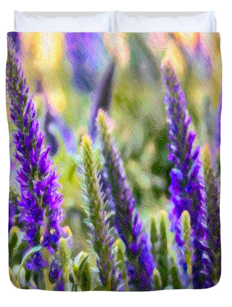 Salvia Sway Duvet Cover