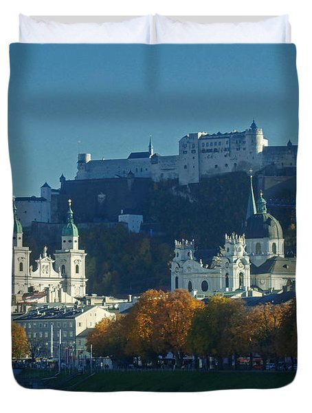 Salzburg Austria In Fall Duvet Cover by Rudi Prott