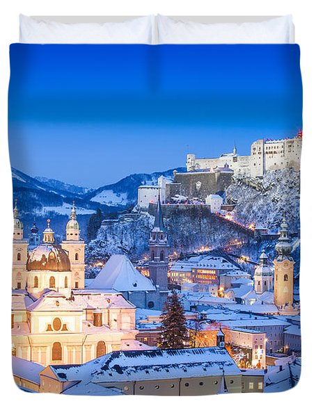 Salzburg In Winter Duvet Cover