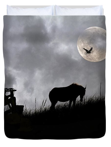 Sam And The Night Watch Duvet Cover