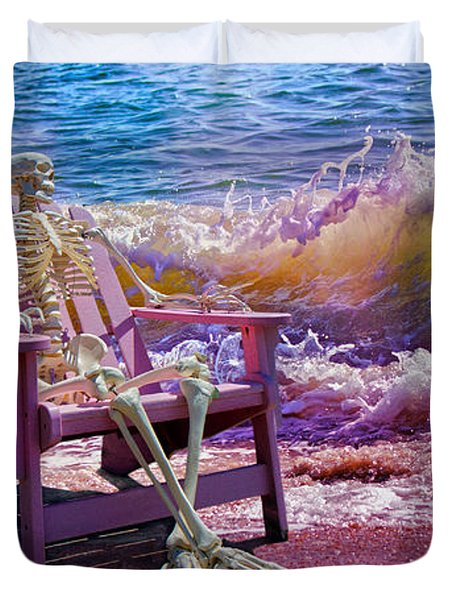 A-loon On The Beach  Duvet Cover