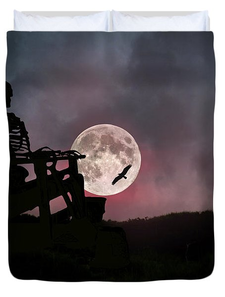 Sam Reasons With The Moon Duvet Cover