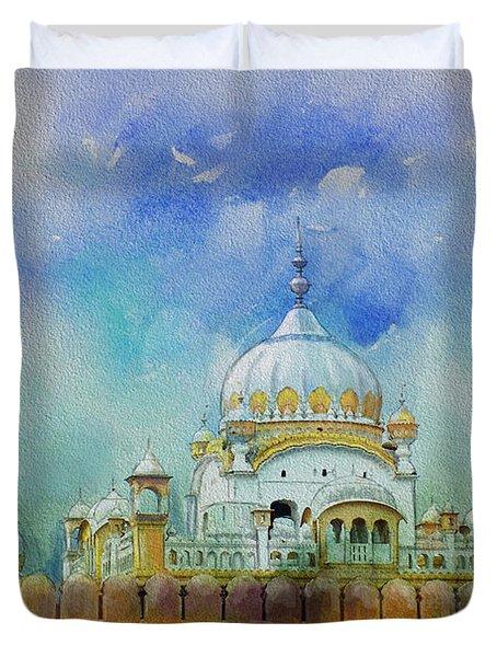 Samadhi Ranjeet Singh Duvet Cover by Catf