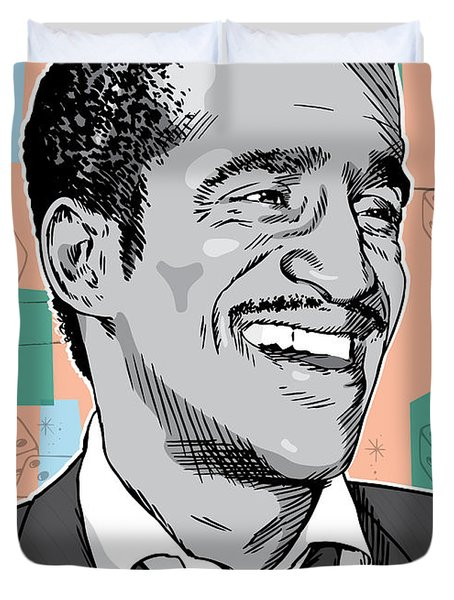 Sammy Davis Jr Pop Art Duvet Cover
