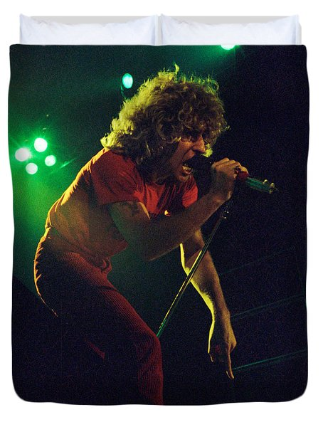 Sammy Hagar New Years Eve At The Cow Palace 12-31-78 Duvet Cover