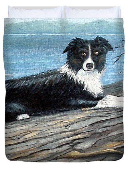 Duvet Cover featuring the painting Sammy Mcdonald by Fran Brooks