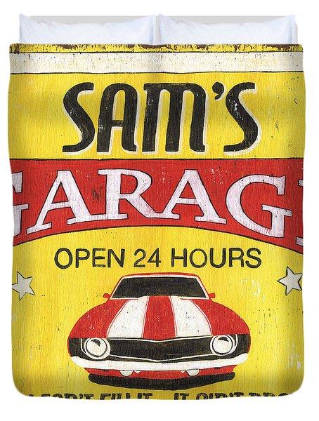 Sam's Garage Duvet Cover by Debbie DeWitt