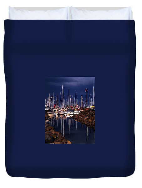 Duvet Cover featuring the photograph Samsoe Island Denmark by Colette V Hera  Guggenheim