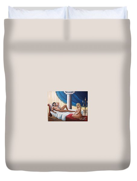 Samson And Delilah Duvet Cover