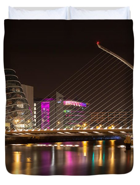 Samuel Beckett Bridge In Dublin City Duvet Cover