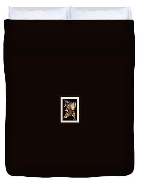 Duvet Cover featuring the painting Samurai by Rafael Salazar