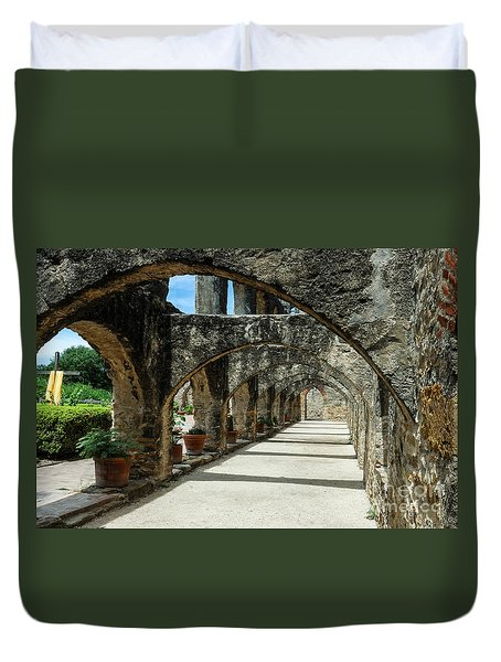 San Antonio Mission Arches Duvet Cover