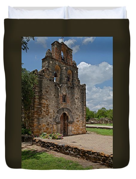 San Antonio Mission Duvet Cover
