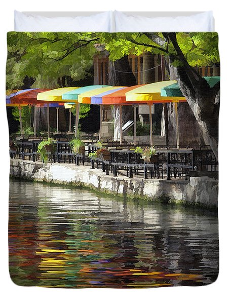 San Antonio River Walk Duvet Cover