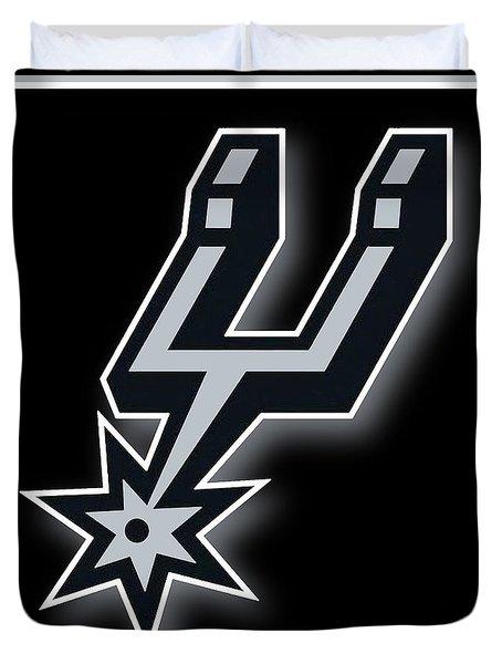San Antonio Spurs Duvet Cover by Tony Rubino