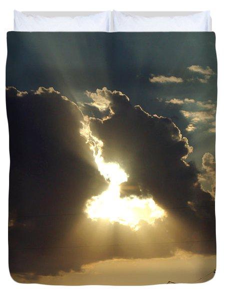 Duvet Cover featuring the photograph San Antonio Sunset by Peter Piatt