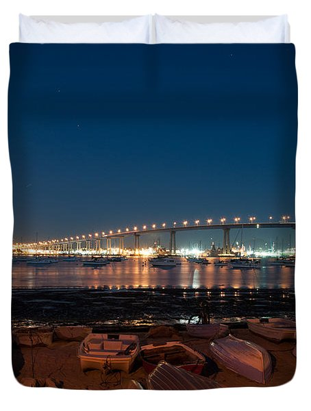 Duvet Cover featuring the photograph San Diego Bridge  by Gandz Photography