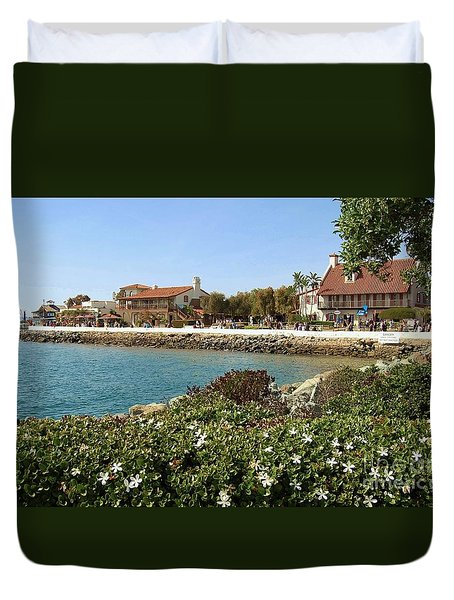 Duvet Cover featuring the photograph San Diego Cute Place by Jasna Gopic
