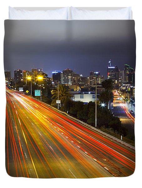 San Diego Skyline Duvet Cover