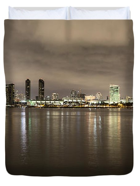 San Diego Skyline Panoramic 3 Duvet Cover
