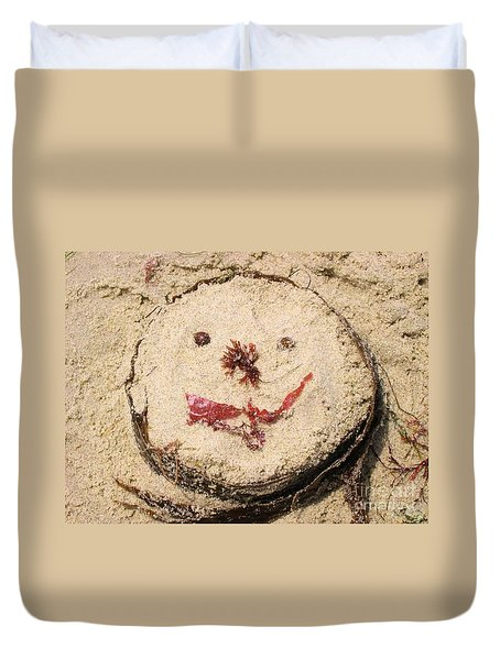 Duvet Cover featuring the photograph San Diego Smile by Angela J Wright